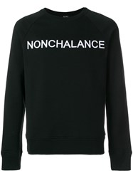 N 21 No21 Nonchalance Embroidered Sweatshirt Cotton Polyester Black