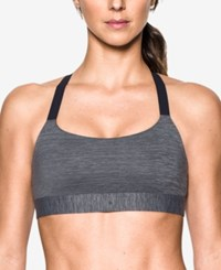 Under Armour Eclipse Heathered Mid Impact Sports Bra Carbon Heather