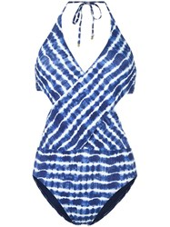 Tory Burch Tie Dye Swimsuit Blue