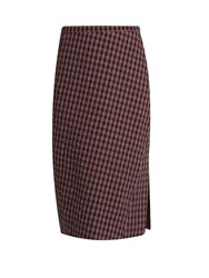 Altuzarra Vic Checked Pencil Skirt Red Multi