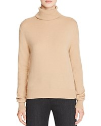 Vince Cashmere Turtleneck Sweater Camel