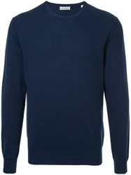 Gieves And Hawkes Crew Neck Sweater Cashmere Blue