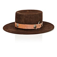 Nick Fouquet Men's The Rubin Fedora Dark Brown
