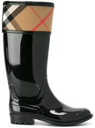 Burberry 'Crosshill' Rain Boots Black