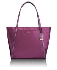 Tumi Voyageur Leather Trimmed Nylon Q Tote Dark Pink