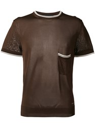 Dsquared2 Short Sleeve Knit Brown