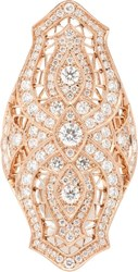 Stone Diamond And Pink Gold Sarah Shield Ring Colorless