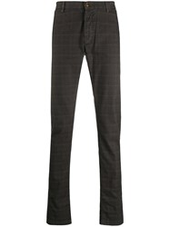 Trussardi Jeans Checked Slim Fit Trousers 60