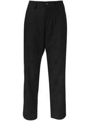 Y's Polka Dot Tapered Trousers Black