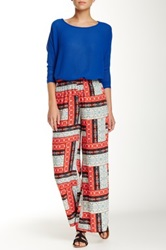 Lily White Gaucho Pant Red