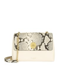 Ted Baker Misti Faux Snake Cross Body Bag Female Grey