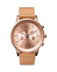 Triwa Nevil Leather Strap Watch 40Mm Pink