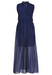 Missguided Plus Maxi Dress Navy Dark Blue