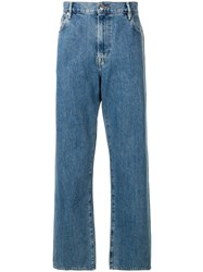 Burberry Wide Leg Jeans Blue
