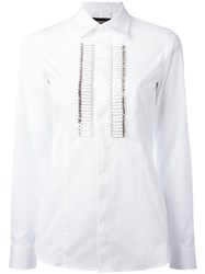 Dsquared2 Safety Pin Tuxedo Shirt White