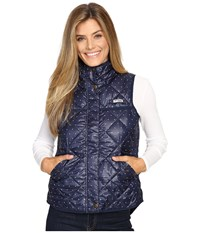 Columbia Harborside Diamond Quilted Vest Collegiate Navy Polka Dot Women's Vest Blue