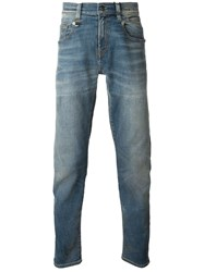 R 13 R13 Faded Straight Leg Jeans Blue