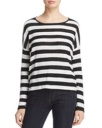 Eileen Fisher Striped Organic Linen Sweater 100 Exclusive Black White