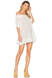 Minkpink Athena Broderie Anglais Off Shoulder Dress White