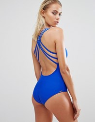 Body Glove Blue Cross Back Swimsuit 018 Abyss Blue