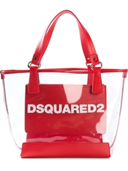 Dsquared2 Logo Tote Nude And Neutrals