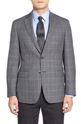 Men's Big And Tall Di Milano Uomo Classic Fit Houndstooth Wool Sport Coat