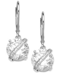 Giani Bernini Cubic Zirconia Wrapped Drop Earrings In Sterling Silver Created For Macy's