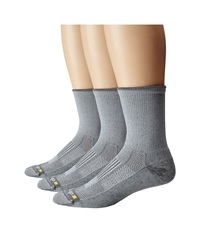 Drymax Sport Lite Hiking Crew 3 Pair Pack Grey Quarter Length Socks Shoes Gray