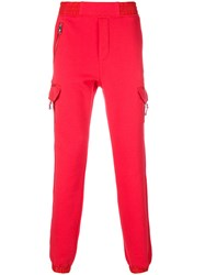 Versus Pocketed Track Pants Cotton Polyester M Red