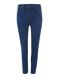 Therapy Sarah Cropped Zip Skinny Jean Mid Blue