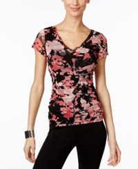 Inc International Concepts Floral Print Mesh Top Only At Macy's Floral Pansy Clous