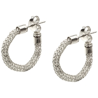 A B Davis Aurium Collection 9Ct Gold Cubic Zirconia Hoop Earrings White Gold