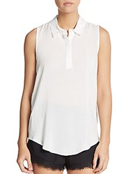 Bcbgeneration Jersey Sleeveless Blouse Whisper White