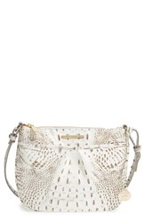 Brahmin Melbourne Tara Leather Crossbody Bag Grey Gravel