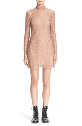 Alexander Wang Women's Lace Turtleneck Dress Terra