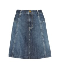 Current Elliott The Skater Denim Skirt Blue
