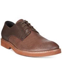 Alfani Glen Mixed Material Plain Toe Derby Oxfords Only At Macy's Men's Shoes