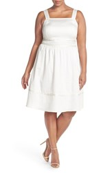 Plus Size Women's Sejour Square Neck Cotton Sundress