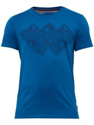 Ted Baker Lazaro Graphic T Shirt Blue