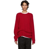 Sies Marjan Red Lou Cable Sweater
