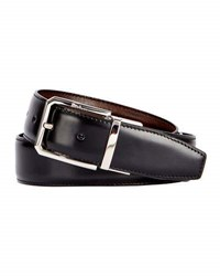 Berluti Versatile 35Mm Reversible Leather Belt Black Knight Tobacco Bis