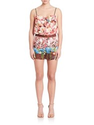 Clover Canyon Floral Print Short Jumpsuit Multi