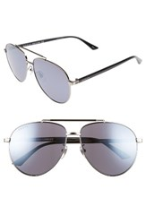 Gucci Women's 61Mm Aviator Sunglasses Mirror Gunmetal Ruthenium Mirror Gunmetal Ruthenium