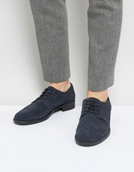 Frank Wright Lace Up In Navy Suede Blue