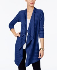 Inc International Concepts Draped Open Front Cardigan Only At Macy's Goddess Blue