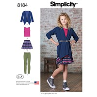 Simplicity Children's Dress Sewing Pattern 8184