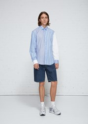 J.W.Anderson Jw Anderson 'S Paneled Classic Shirt In Powder Blue Size 46 100 Cotton