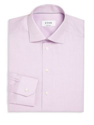 Eton Of Sweden Contemporary Fit Herringbone Dress Shirt Purple