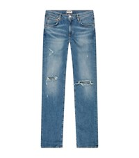 Agolde Hitch Distressed Jeans Blue