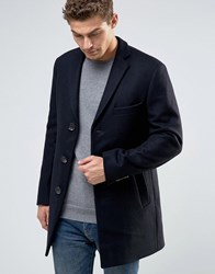 Esprit Wool Overcoat Navy